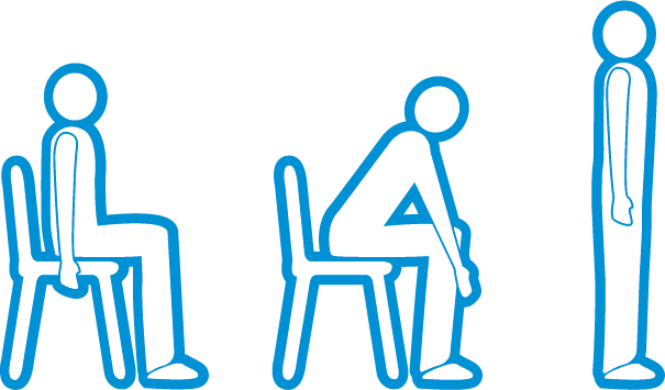 sit to stand exercise - coping with post-covid breathlessness