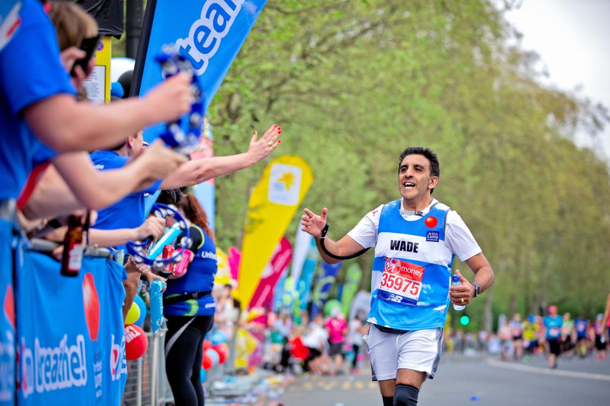 Wade running the marathon