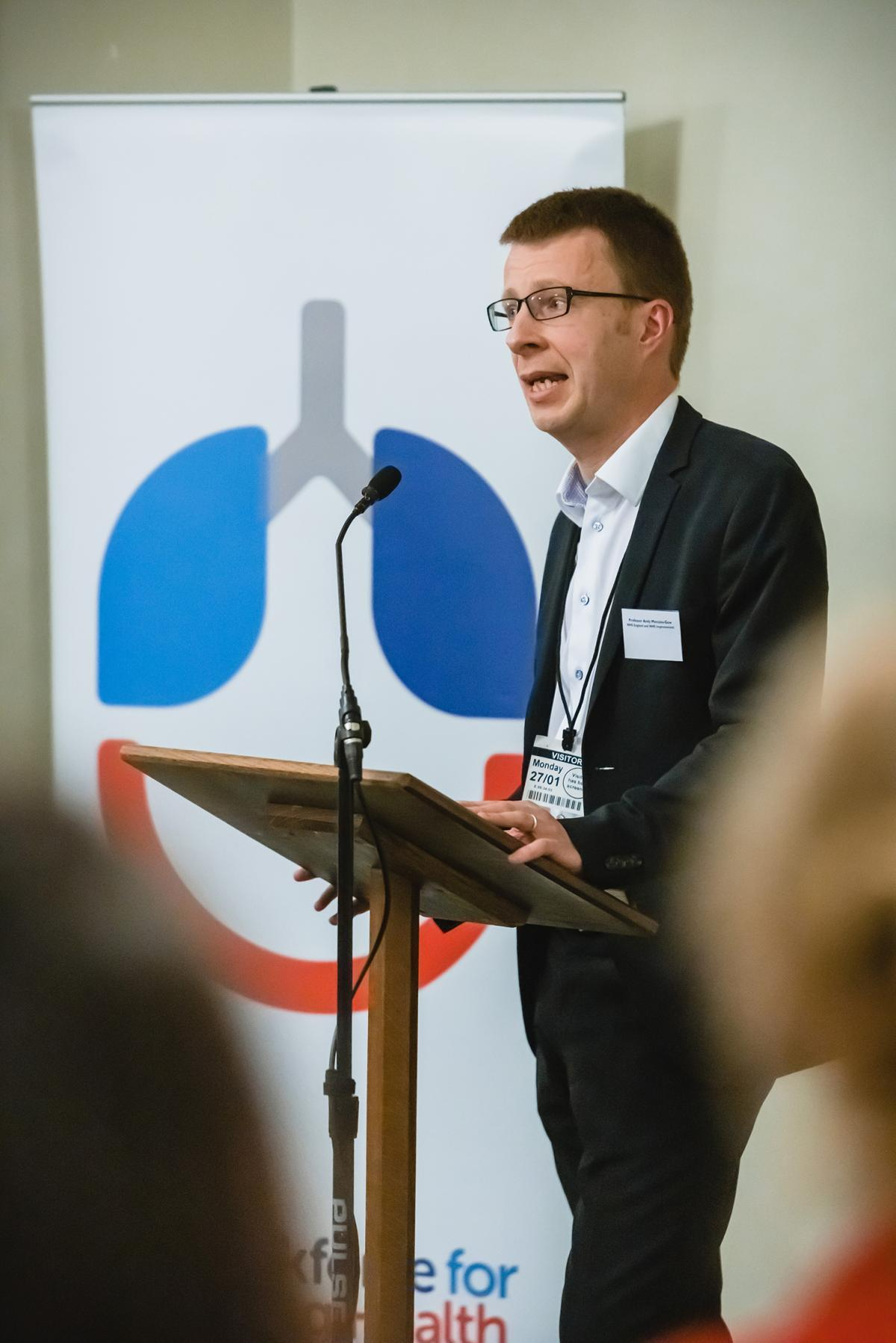 Andrew Menzies-Gow at the Taskforce for Lung Health One Year On report launch