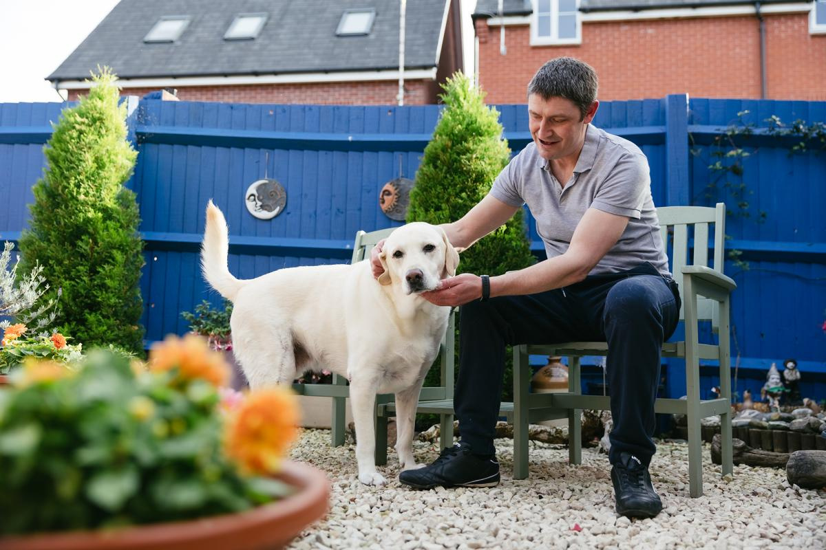 Chris Dodd with his dog