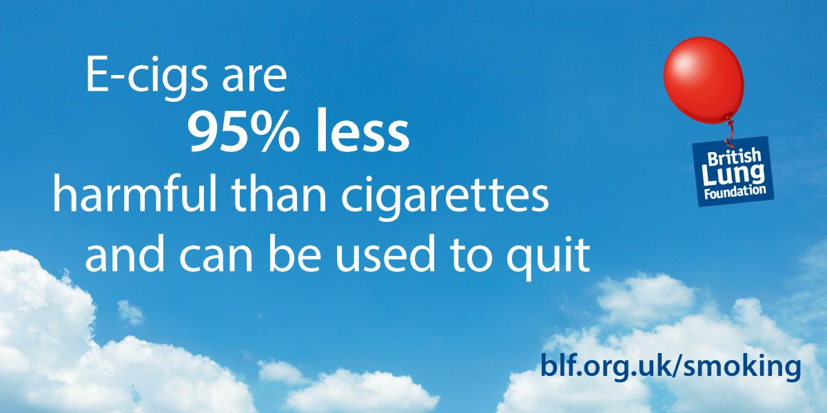 Ecigs are 95% less harmful