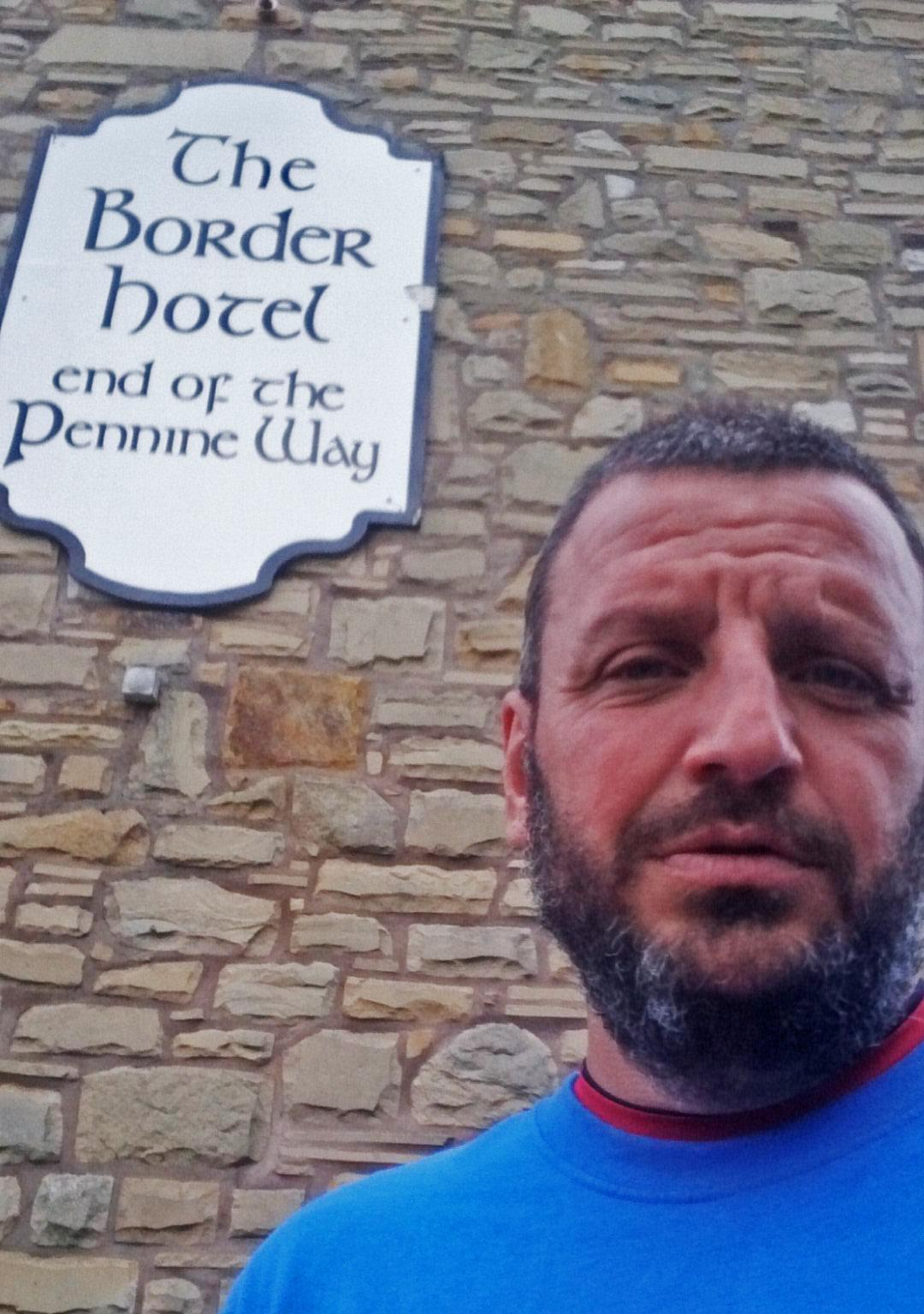 Paul at the end of the Pennine Way