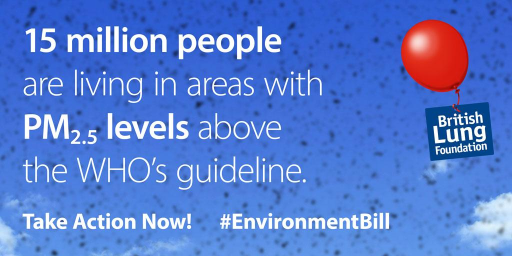 15 million people are living in areas with PM2.5 levels above the WHO's guideline