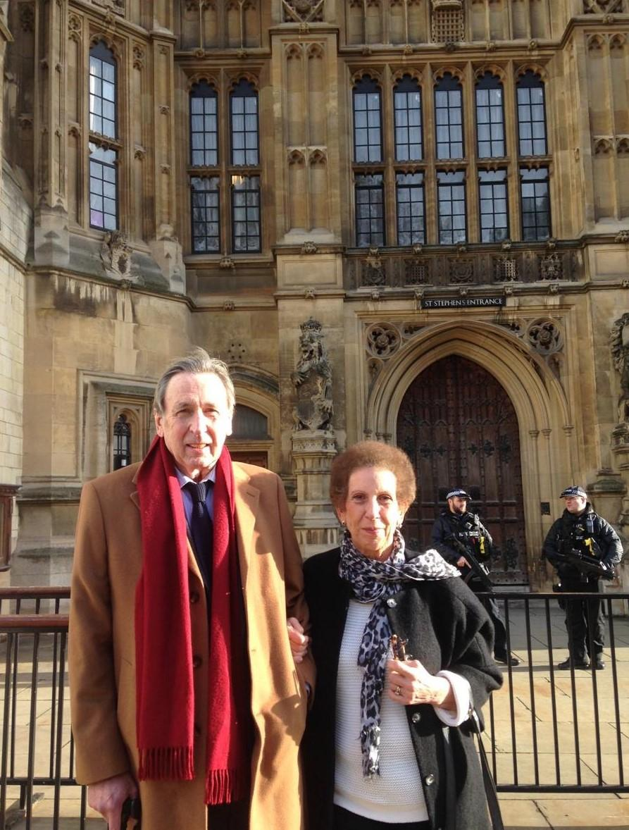 Lucy and Jay outside parliament - Taskforce for Lung Health