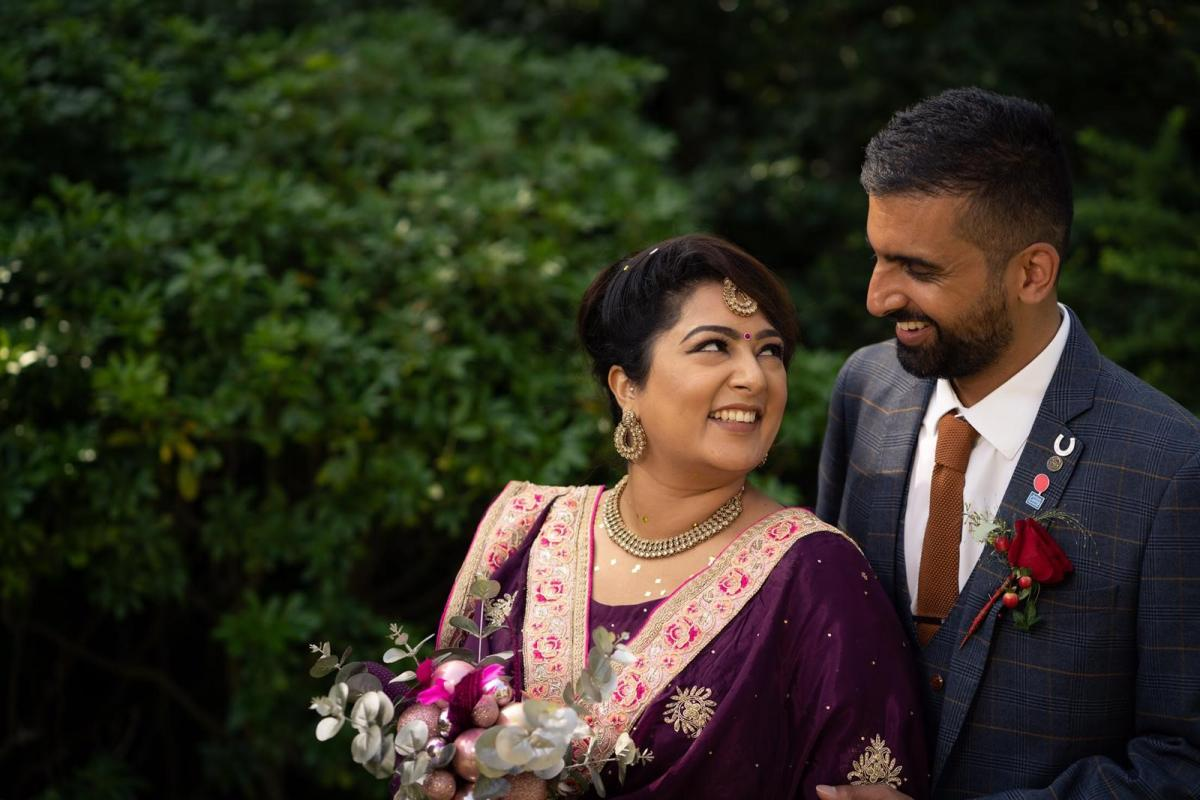 Neeshma and her husband on their wedding day - British Lung Foundation