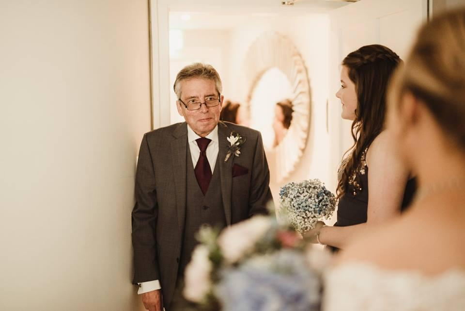 Rachel's dad on her wedding day