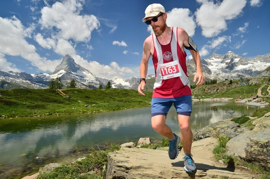 Jason at mile 19 on the Zermatt Ultra Marathon