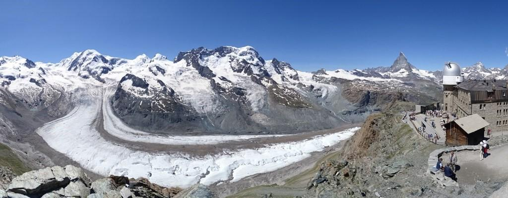 Gornergrat, the finish of the Zermatt Ultramarathon at just over 3000m