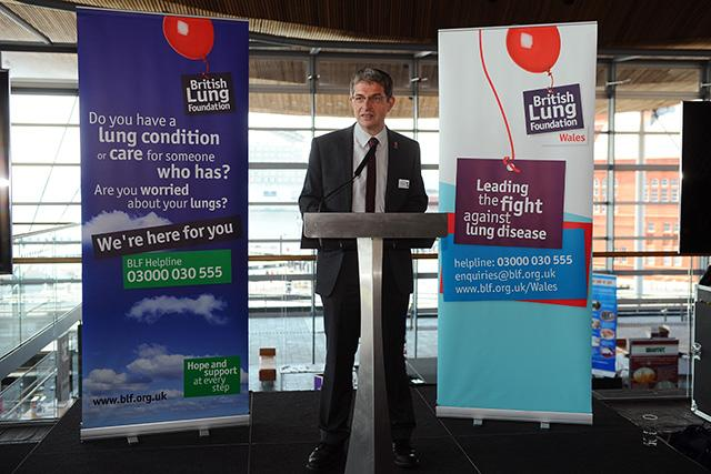 GSK British Lung Foundation job at the Senedd in Cardiff © WALES NEWS SERVICE