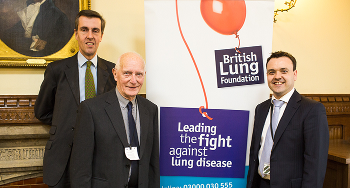 Mike Heaphy speaks with MPs about COPD in parliament