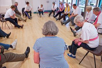 Pulmonary rehab exercise class for lung health