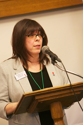 Penny Woods speaks at the launch of the APPG report