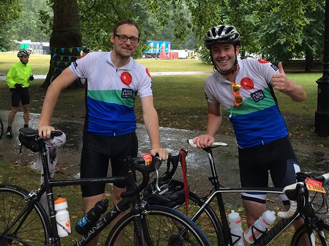RideLondon 2014 rain cycling