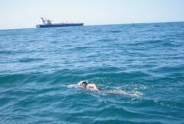 Swimming the Channel for charity - first three hours
