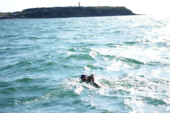Swimming the Channel for charity - France