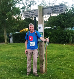 Andy finishes his sponsored walk