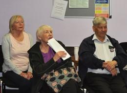 Patients take part in a BLF workshop