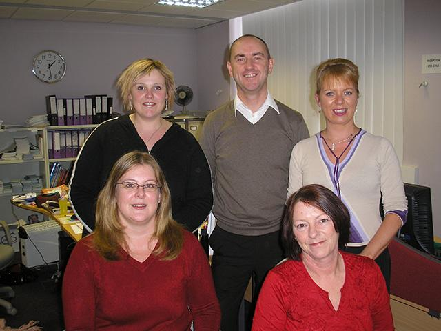 The helpline team in 2008