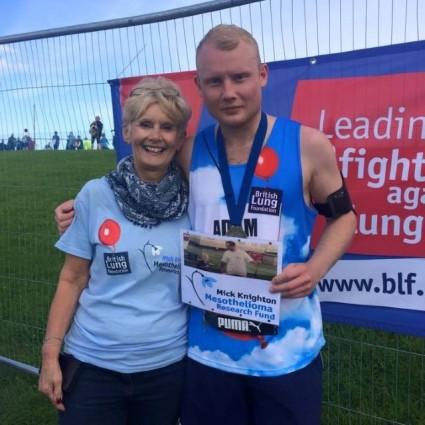 Chris Knighton and Adam running Great North Run half marathon for Team Breathe