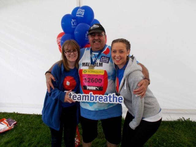 Malcolm Clemmets running Great North Run half marathon for Team Breathe