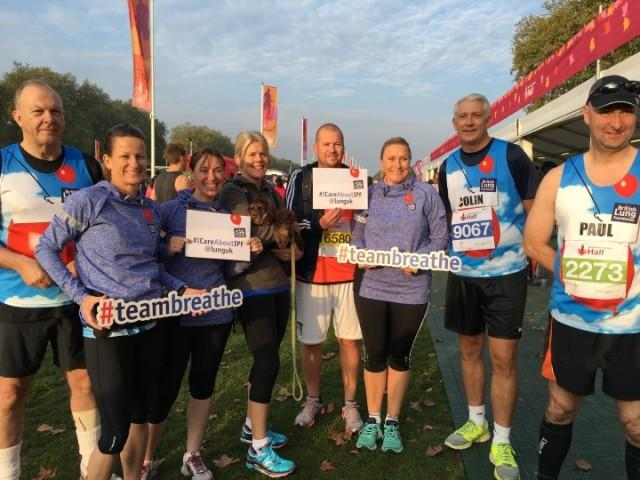 Team Exclusive running Royal Parks half marathon for Team Breathe