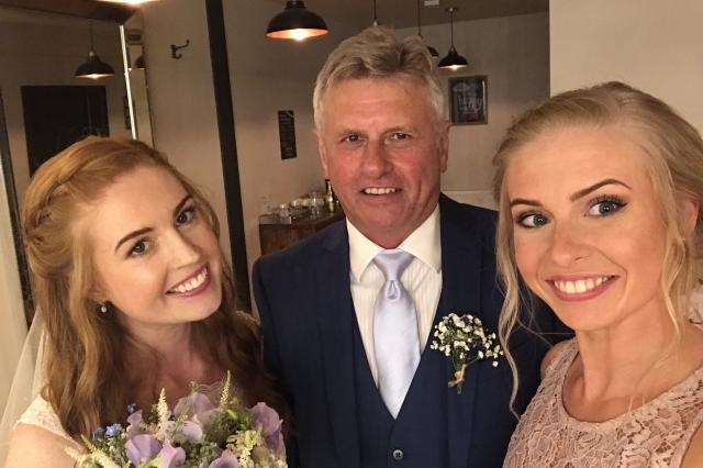 Andy and daughters Gemma and Sasha