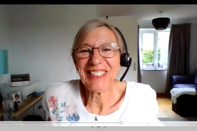 Ann from Andover at an online meeting