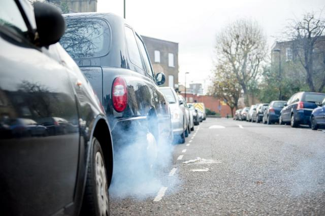 Car exhaust fumes air pollution