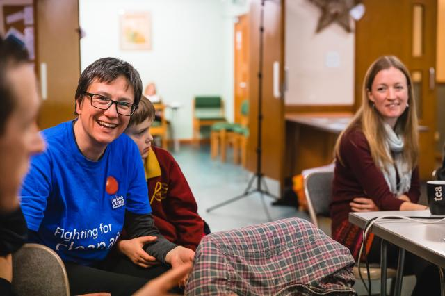Campaigner sandra green smiling at BLF Clean Air Parents Network event