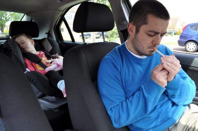 Smoking in cars with children campaign