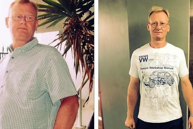 Gary's dramatic weight loss after being diagnosed with OSA