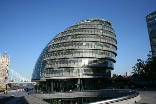 London city hall. Photo by Steve F-E-Cameron.