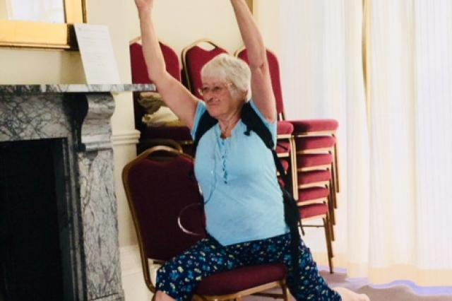 Image of Pauline at a Yoga class