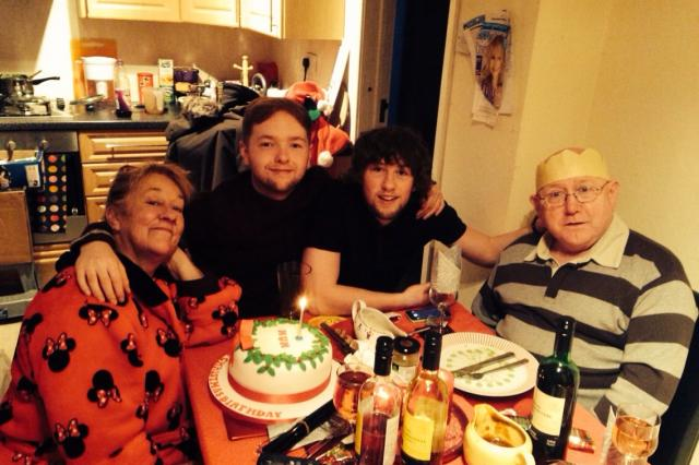 Stephen's family on Christmas Day 2014 - British Lung Foundation, IPF
