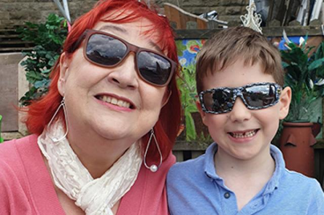 Susan, who is part of the Active Steps programme, and her son.