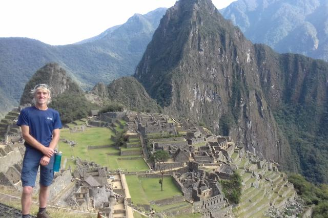 Scott with bronchiectasis at Machu Picchu -  British Lung Foundation