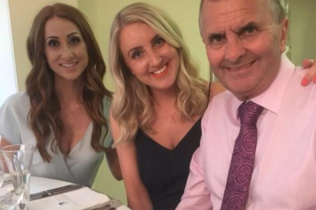 Claire and Emma with their dad