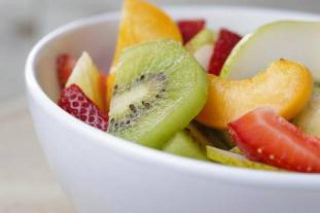Healthy fruit breakfast