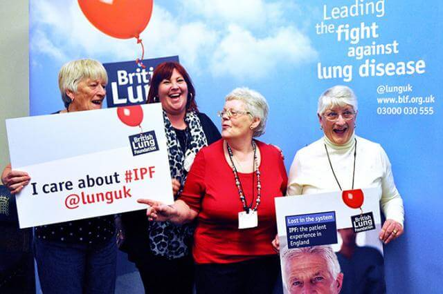 People with IPF supported by the British Lung Foundation