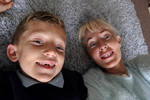 Kimberley and her grandson