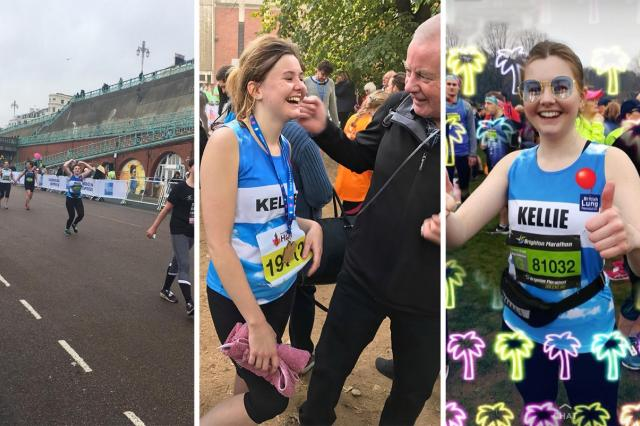 Kellie running the Brighton marathon