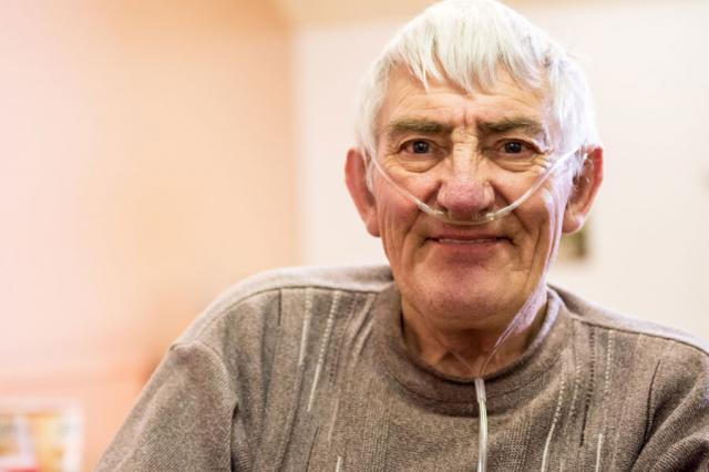 Man living with COPD