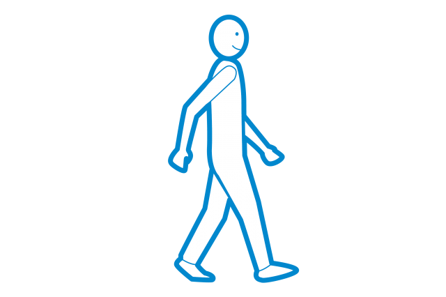 person walking infographic