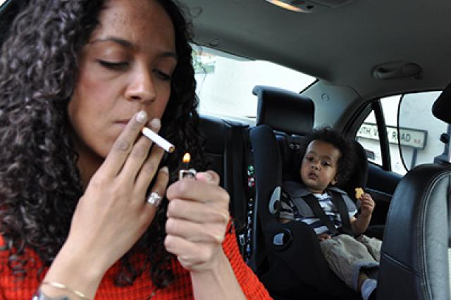 Smoking in cars with children